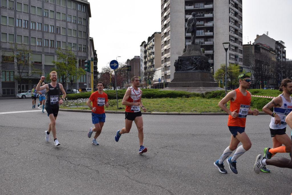 Milaan marathon 2018 bij km 17