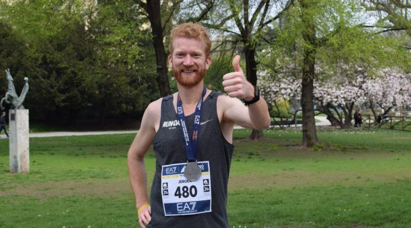 Milaan marathon 2018 met medaille Jeroen van Aken