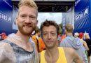 Sfeer proeven bij de marathon van Berlijn